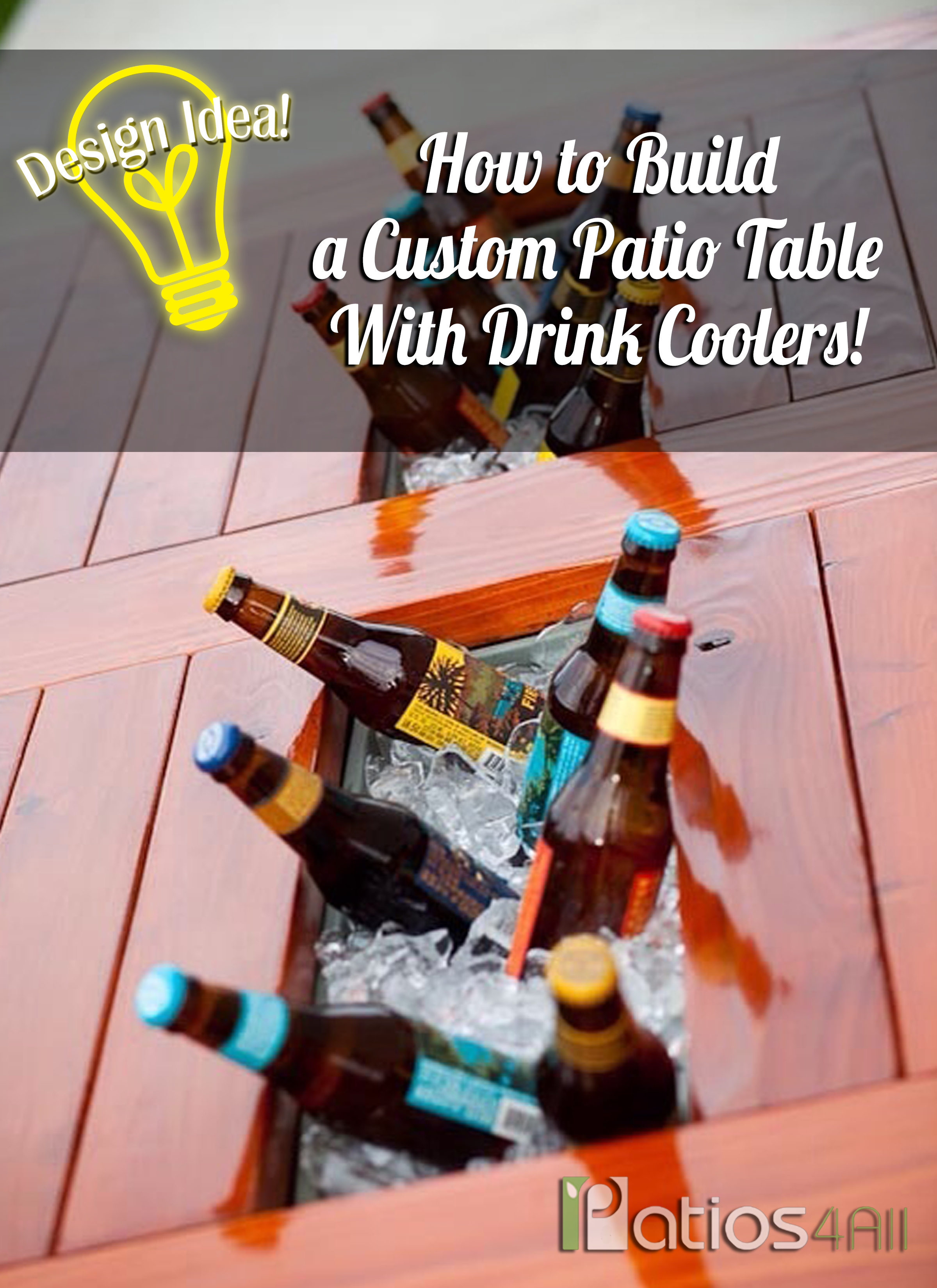 how to make table with coolers