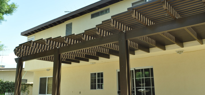 5) Distinguishing styles can make your patio look one of a kind. & Open Lattice patio covers