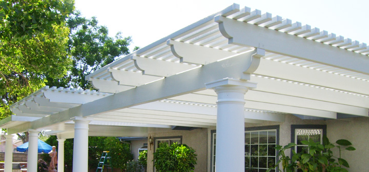 Superbe 1) Aluminum Open Lattice With Roman Columns ...
