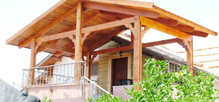 Wood patio covers for Wood deck cover plans