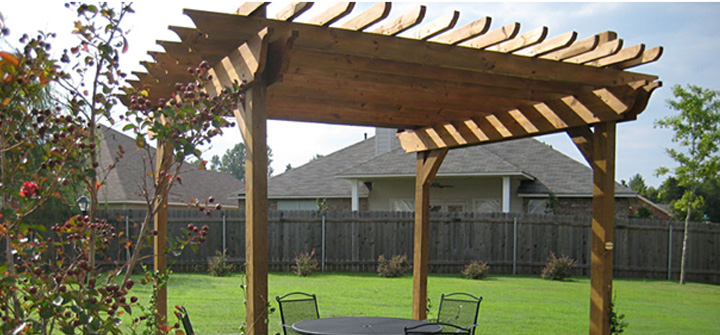 11) Enhance Your Property With Freestanding Wood Patio Cover.