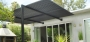 6) Contemporary, Steel, open lattice patio cover