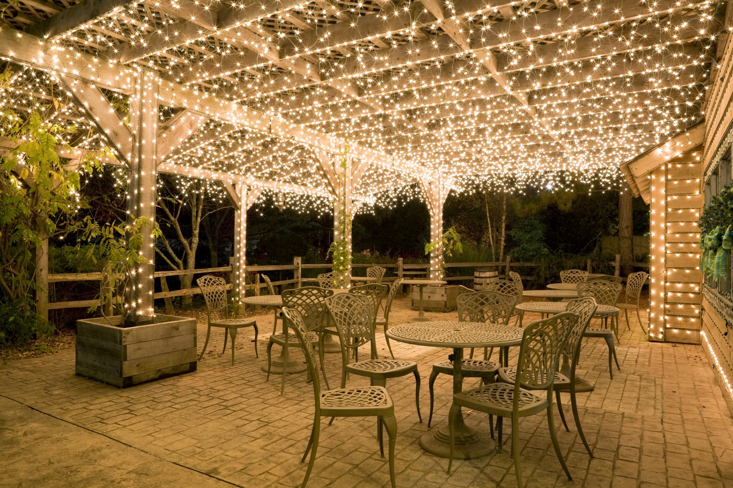 Catchy Collections Of Patio Christmas Lights Fabulous Homes For Wedding