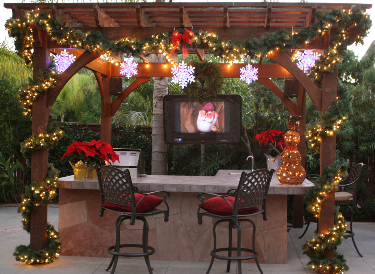 Articles for Patios decorated for christmas