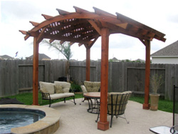 Poolside Arched Pergola